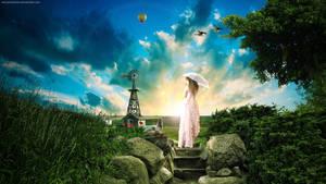 Sunset of Field by FantasyArt0102
