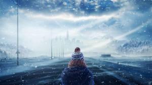 Winter Road by FantasyArt0102