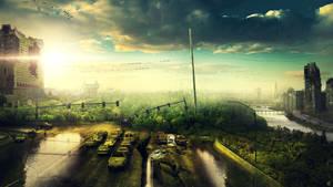 Destroyed City by FantasyArt0102