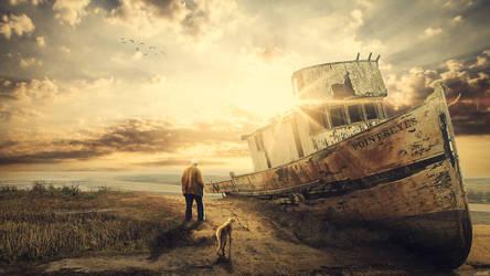 The old boat by FantasyArt0102