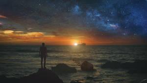 Sunset at Sea by FantasyArt0102