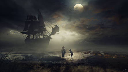 Ghost ship by FantasyArt0102