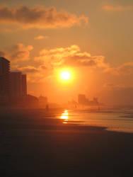 Orange Sunrise by waterfowl