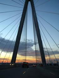 Arthur Ravenel Bridge by waterfowl
