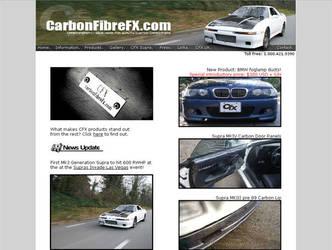 CarbonFibreFX Website by ev0net