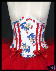 SONIC THE HEDGEHOG corset 1 by TheVintageDoctor