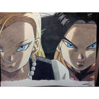 Dragon Ball Z Kai, 17 and 18 by android17lover