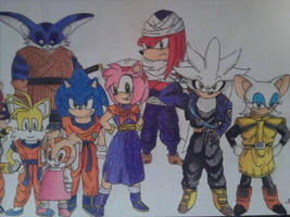 Sonic DBZ Characters set 1 by android17lover