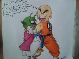 Krillin the Space Duck by android17lover
