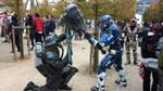 Death Korps Grenadier vs. Lunar Republic Spartan by Flyntendo