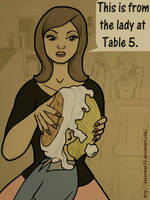 The Woman at Table 5 by bakerman70