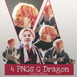 4 PNGs G-Dragon by HaAnh-Meow
