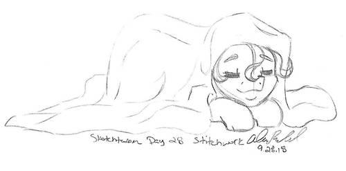 Sketchtember Day 28 - Stitchwork by Wildnature03