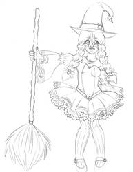The Young Witch Sketch by Wildnature03
