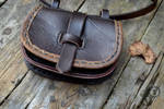 Small Medieval Leather Pouch by Tharrk