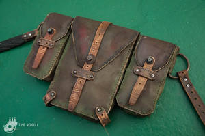 Postapoc Leather Bags by Tharrk
