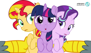 Sunset Shimmer, Twilight, and Starlight Glimmer by arifproject