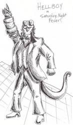 Hellboy - Saturday Night Fever by Taniadragon