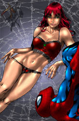 Spidy and Mary Jane by Desp0nd3ncy