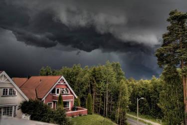 Norway - Thunder clouds by Eldharjar