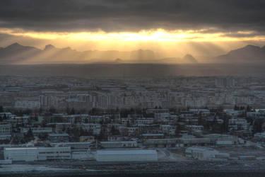 Iceland sol by Eldharjar