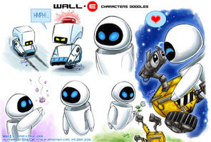 Wall-E: Wall-E Eve Mo doodles by rinacat