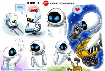 Wall-E: Wall-E Eve Mo doodles by rinacat