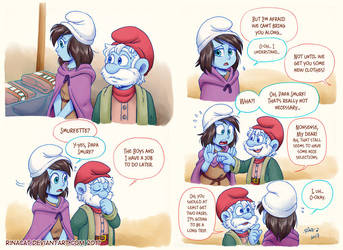 Smurfs AU: Shopping p1-p2 by rinacat
