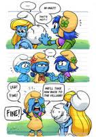 Smurfs: Human Smurfed pg 8 by rinacat