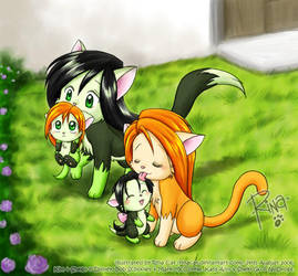 KP: Kitty Family by rinacat