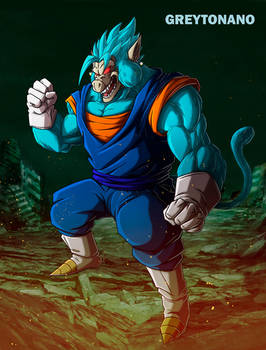 Oozaru Vegetto Blue by Greytonano