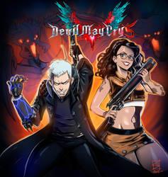 Devil May Cry 5 fanart by XOD0