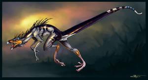 Running Raptor by ObsidianGecko