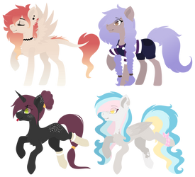 Pony Adopt | points or PayPal | 1/4 OPEN by Mrowka333