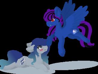 COMM | Aurora and Ezzy by Mrowka333