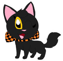 Midnight's Halloween ribbon by LisaDots123