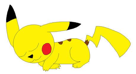 Sleeping Pikachu by LisaDots123