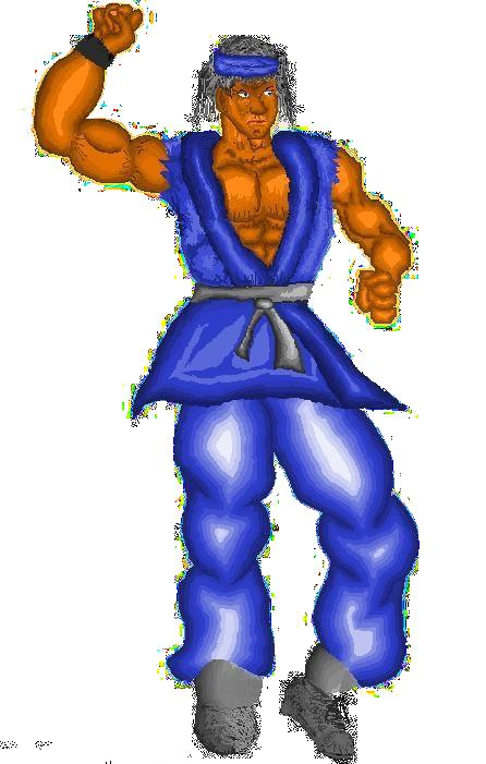 Pixel Art Fighter by sargeaxa