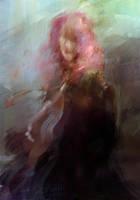 Pink hair woman by tatitati