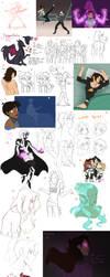 Sketch Dump 10 by DragonAnalei
