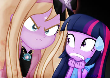 Aglaope scares Twilight by jucamovi1992
