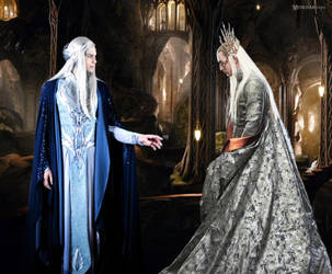 Two elven Kings - Oropher and Thranduil by Menkhar