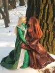 Love is in the air - Thranduil and his wife by Menkhar