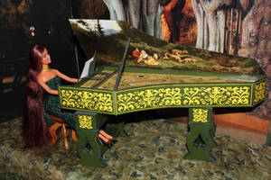 Harpsichord (cembalo) - final papercraft model by Menkhar