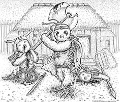 DWDW 13 Tribal warrior with battleaxe by DavidStaege