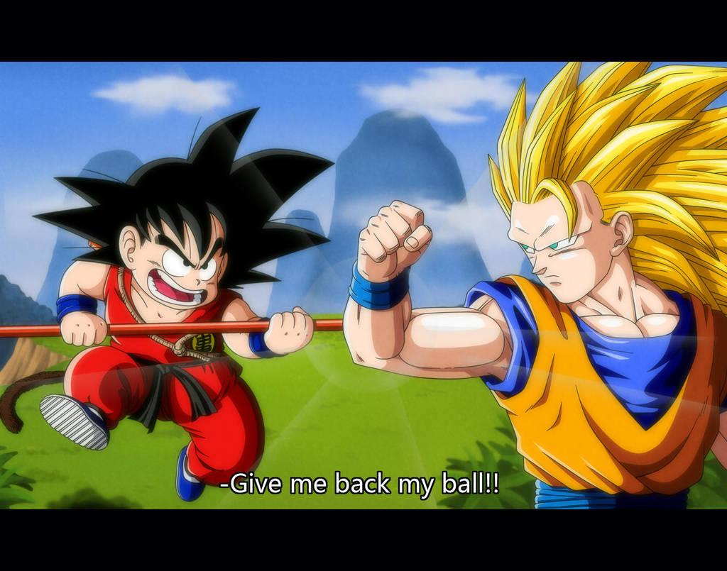Kid Goku vs. Goku SSJ3 by orco05 on DeviantArt 14120d68346e