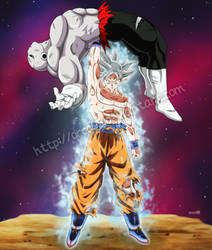 Migatte no Gokui Son Goku vs Jiren by orco05