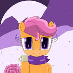 Scootaloo with Coffee Mug (pixel art) by SuperHyperSonic2000
