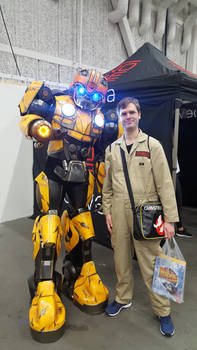 Bumblebee and Egon Spengler by EgonEagle