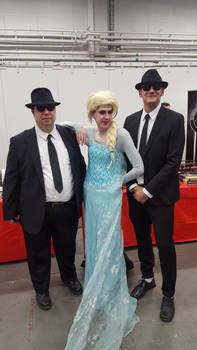 Elsa meets The Blues Brothers by EgonEagle